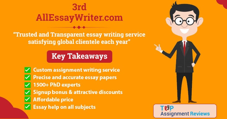 All Essay Writer is on no. 3 in best assignment help in australia | Student reviews and feedback on AllEssayWriter.com